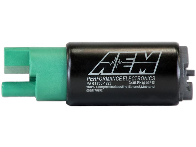 AEM 340lph E85-Compatible High Flow In-Tank Fuel Pump (65mm, Offset Inlet)