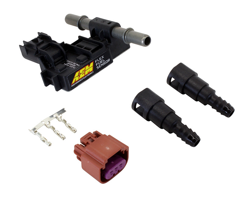 "AEM Flex Fuel Sensor 30-2200 w/ 3/8"" Barbed Fittings"