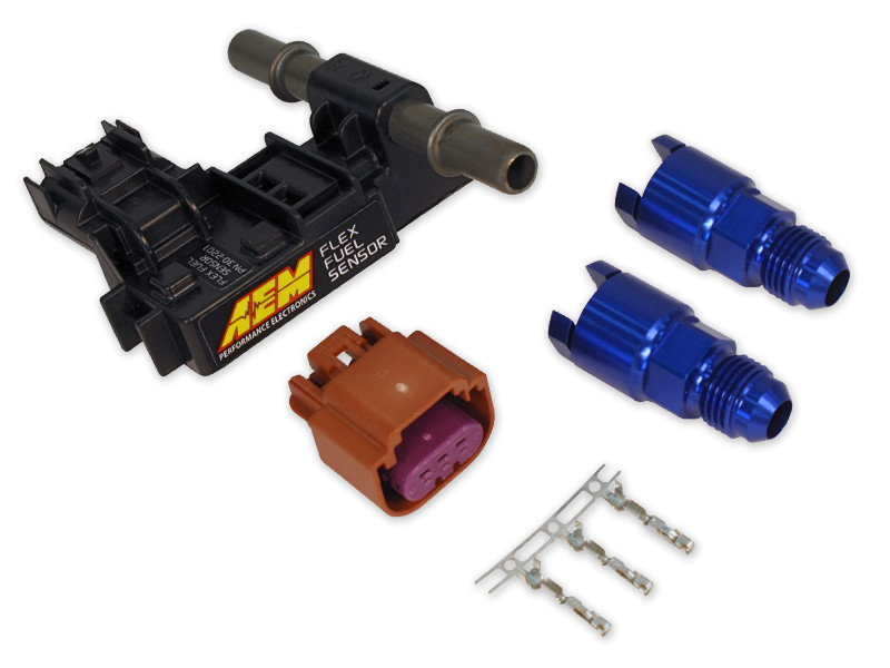 AEM Flex Fuel Sensor 30-2201 w/ -6 AN fittings