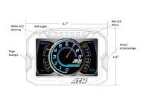 AEM CD-5 Digital Dash Dimensions Front