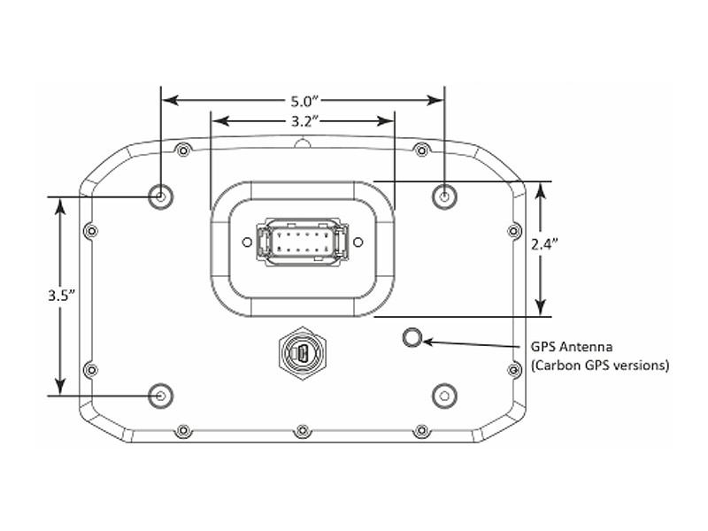 AEM CD-7 Digital Dash Dimensions Rear