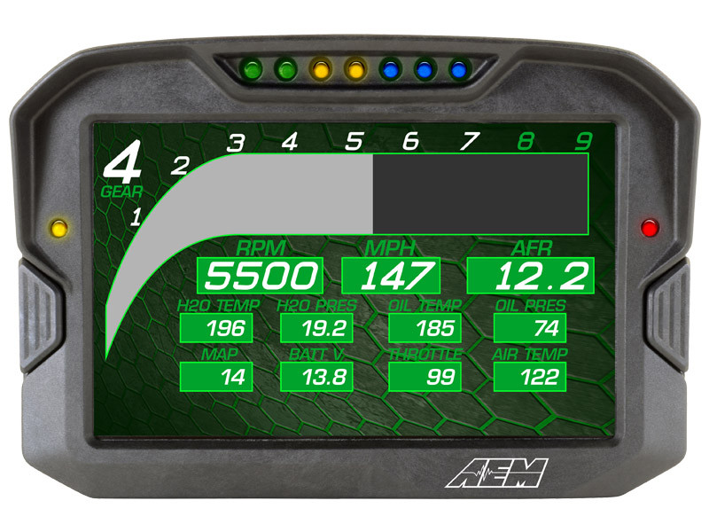 AEM CD-7 Digital Dash demo