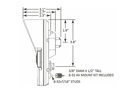 AEM CD-7 Digital Dash Dimensions Profile