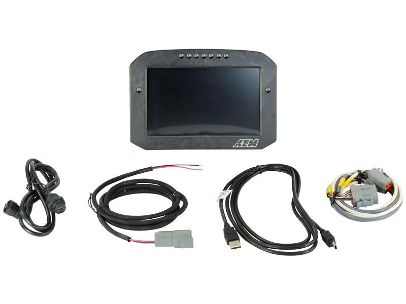 AEM CD-7 Carbon Flat Panel Digital Racing Dash Display Logging / Non-GPS