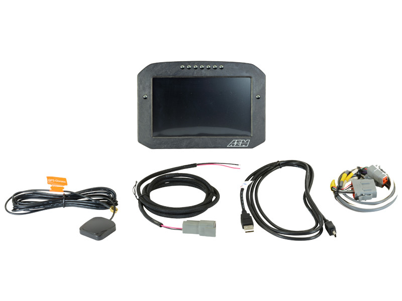AEM CD-7 Carbon Flat Panel Digital Racing Dash Display Non-Logging / GPS Enabled