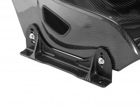 TB FIA bracket in black fitted to seat