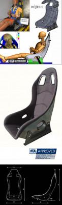 Reverie Super Sports Carbon Fibre Seat - Twin Skin, FIA Fabric Trimmed, FIA Approved