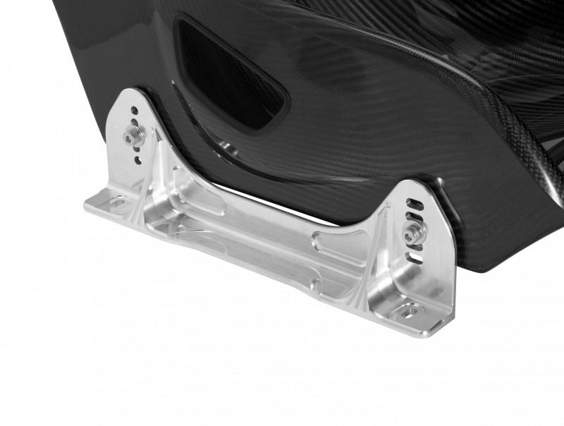 TB FIA bracket in aluminum finish fitted