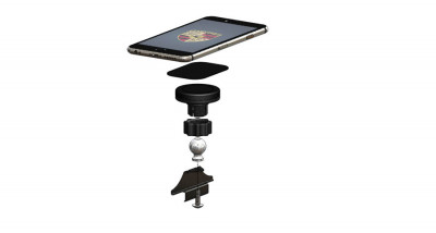 Rennline ExactFit Screw-in Magnetic Phone Mount for Porsche Macan