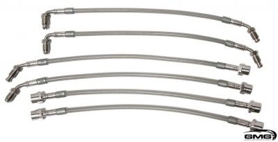 GMG Stainless Steel Brake Lines for Porsche 991 Turbo / GT3 + 981 GT4