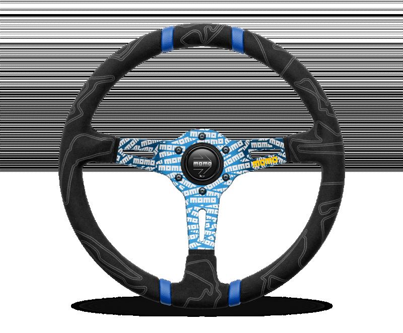 MOMO ULTRA Steering Wheel Blue