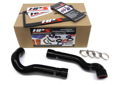 BMW 92-99 E36 325 / M3 High Temp Reinforced Silicone Radiator Hose Kit Coolant OEM Replacement - Bla