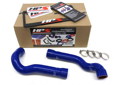 BMW 92-99 E36 325 / M3 High Temp Reinforced Silicone Radiator Hose Kit Coolant OEM Replacement - Blu