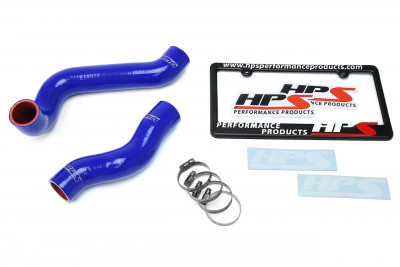 HPS BMW 01-06 E46 325Ci M54 2.5L High Temp Reinforced Silicone Radiator Hose Kit Coolant - Blue