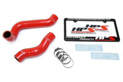 HPS BMW 01-06 E46 325Ci M54 2.5L High Temp Reinforced Silicone Radiator Hose Kit Coolant - Red