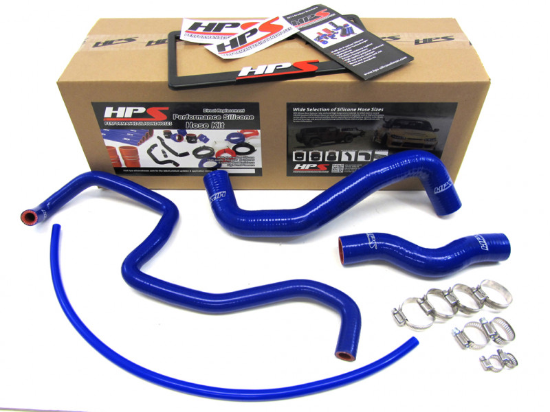 HPS Infiniti 03-07 G35 Coupe High Temp Reinforced Silicone Radiator Hose Kit Coolant - Blue