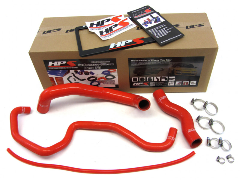HPS Infiniti 03-07 G35 Coupe High Temp Reinforced Silicone Radiator Hose Kit Coolant - Red