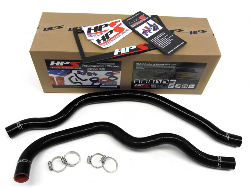 HPS Honda 00-09 S2000 AP1 AP2 High Temp Reinforced Silicone Radiator Hose Kit Coolant - Black
