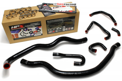 HPS Honda 06-09 S2000 High Temp Reinforced Silicone Radiator and Heater Hose Kit Coolant - Black