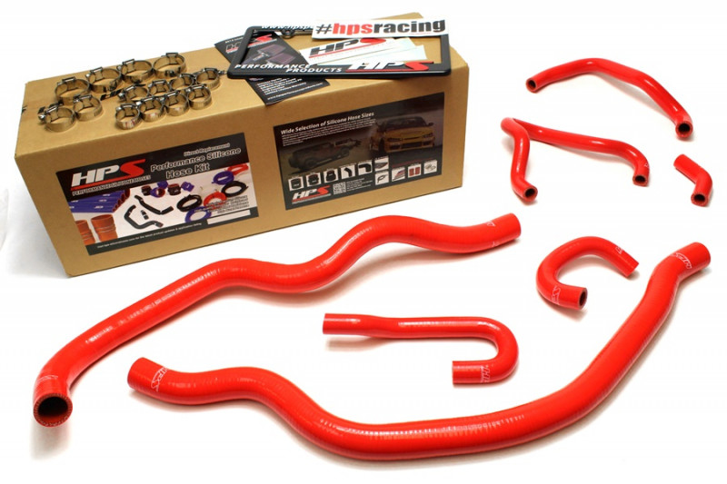 HPS Honda 06-09 S2000 High Temp Reinforced Silicone Radiator and Heater Hose Kit Coolant - Red