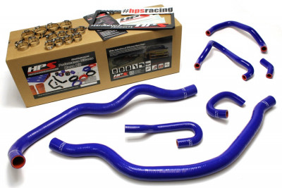 HPS Honda 06-09 S2000 High Temp Reinforced Silicone Radiator and Heater Hose Kit Coolant - Blue