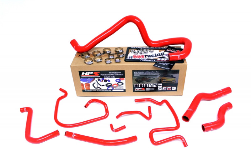 Mazda 06-14 Miata 2.0L High Temp Reinforced Silicone Radiator Hose Kit Coolant - Red