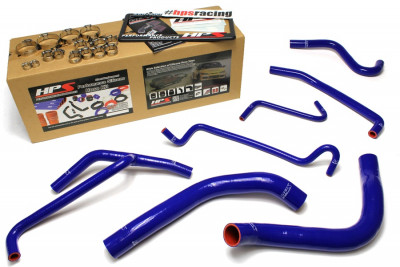 HPS Ford 11-14 Mustang 3.7L V6 High Temp Reinforced Silicone Radiator and Heater Hose Kit - Blue