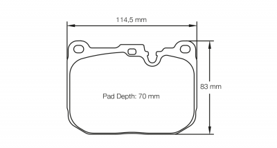 Pagid 4931 Pair of RSL29 Compound Brake Pads