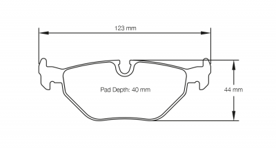 Pagid 1295 Pair of RSL29 Compound Brake Pads