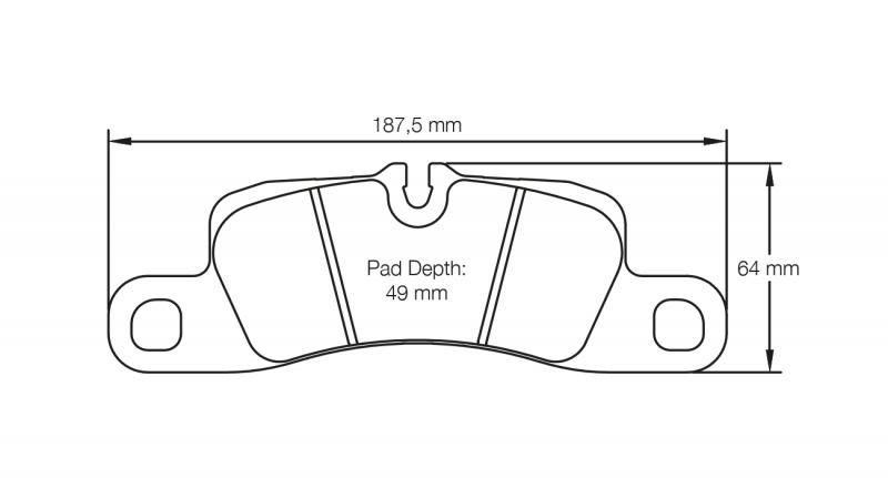 Pagid 4918 Pair of RSL29 Compound Brake Pads