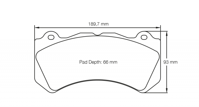 Pagid 8081 Pair of RST3 Compound Brake Pads