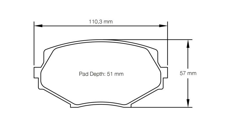 Pagid 8127 Pair of RSL29 Compound Brake Pads