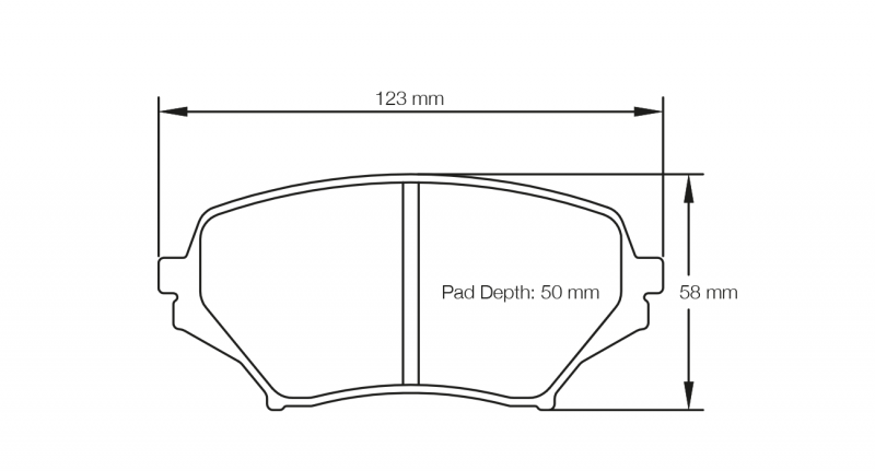 Pagid 8082 Pair of RSL29 Compound Brake Pads
