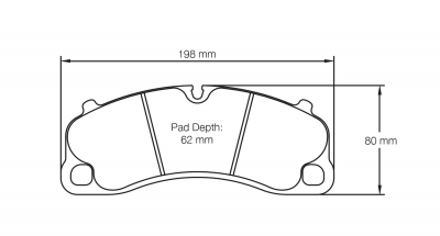 Pagid 4924 Pair of RST3 Compound Brake Pads