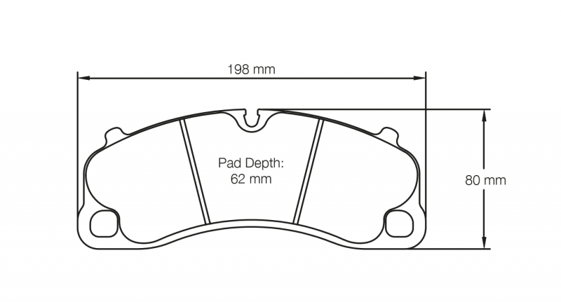 Pagid 4924 Pair of RST3 Compound Brake Pads