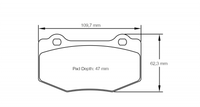 Pagid 8208 Pair of RST3 Compound Brake Pads
