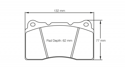 Pagid 2487 Pair of RST3 Compound Brake Pads