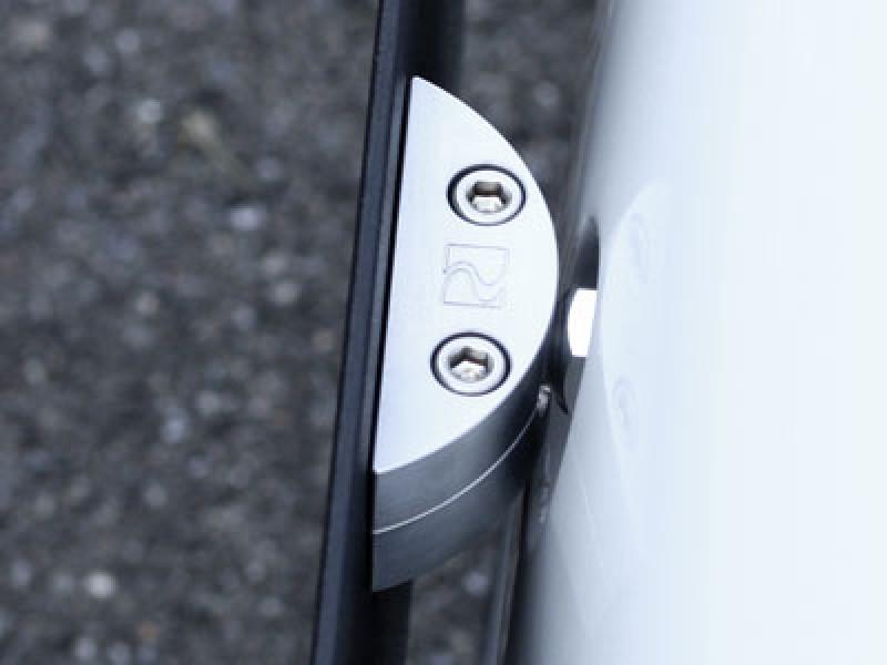 Rennline Tow Hook License Plate Mount - Installed