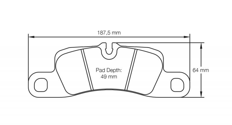 Pagid 4918 Pair of RST3 Compound Brake Pads
