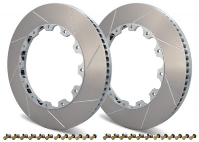 Girodisc 380mm 2-piece front Rotor Ring replacements for Porsche