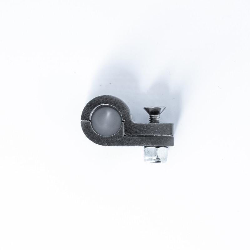 Billet P-Clamp for -6 PTFE Hose - 11.1mm I.D. w/ Titanium Finish