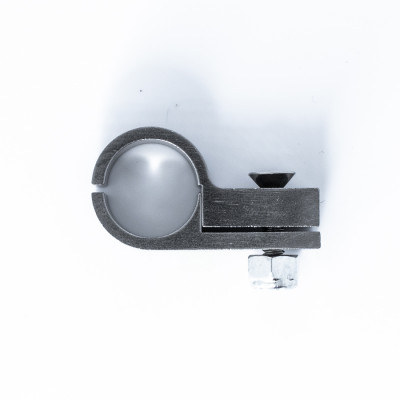 Deatschwerks Billet P-Clamp  for -10 PTFE and -8 CPE Hose - 15.9mm I.D. with Titanium Finish