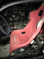 Planted Nissan 240SX (1989-1998) adapter bracket low installed