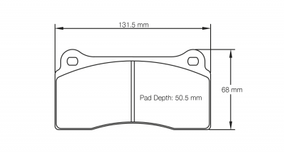 Pagid 1287 Pair of RSL29 Compound Brake Pads