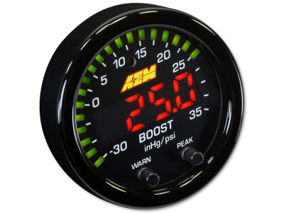 AEM X-Series Boost Pressure Gauge in PSI mode