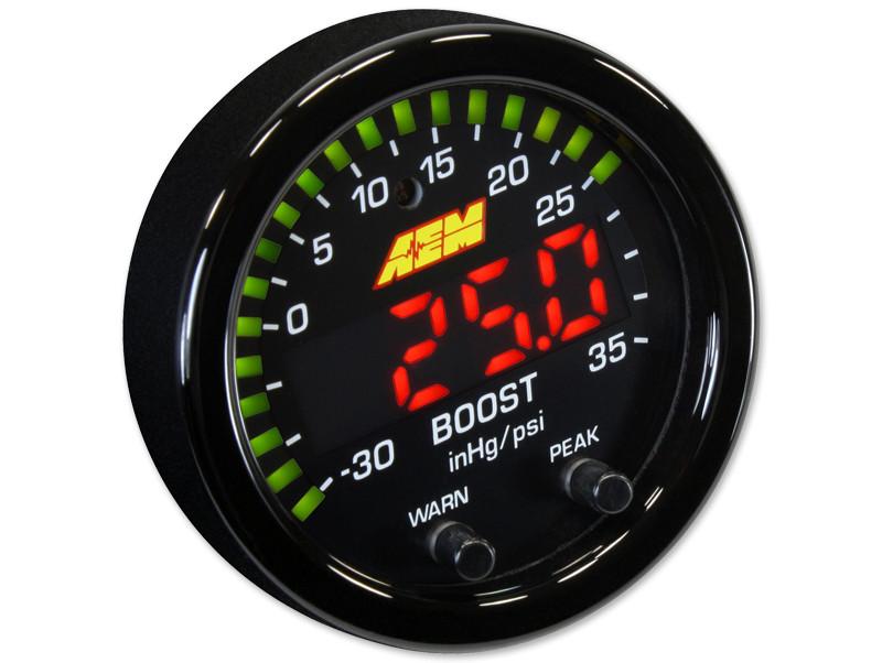 AEM X-Series Boost Pressure Gauge in PSI mode