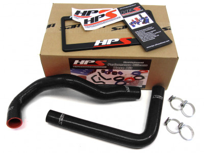 HPS Toyota SC300 Turbo and Supra Turbo Hose Kit - Black