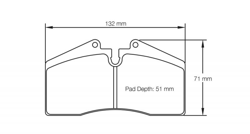Pagid 1204 Pair of RSL29 Compound Brake Pad Shape