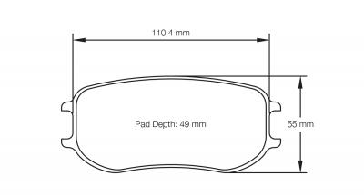 Pagid 4929 Pair of RSL29 Compound Brake Pad Shape