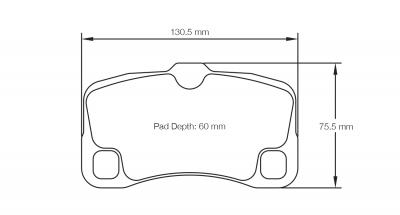 Pagid 8006 Pair of RSL29 Compound Brake Pad Shape